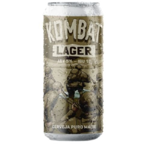 Cerveja Salvador Brewing Co Kombat Lager Pale Lager Lata - 473ml