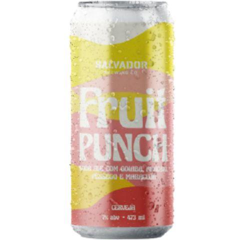 Cerveja Salvador Brewing Co Fruit Punch Goiaba, Abacaxi, Pêssego e Maracujá Sour Ale Lata - 473ml