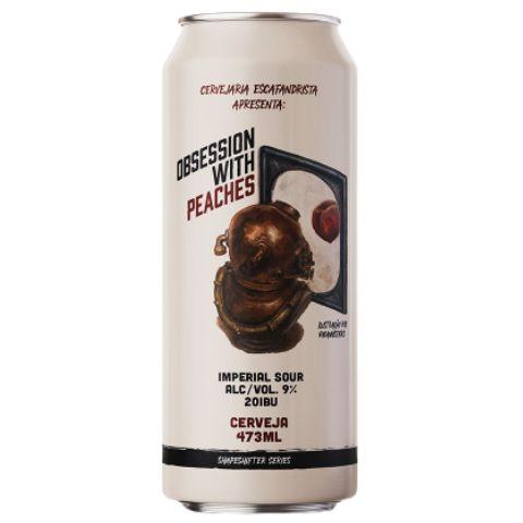Cerveja Escafandrista Obsession With Peaches Imperial Sour Ale C/ Pêssegos Lata - 473ml