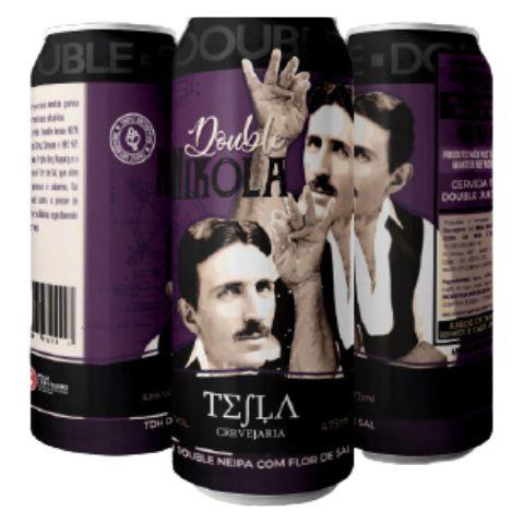 Cerveja Tesla Double Nikola TDH Double NEIPA C/ Flor de Sal Lata - 473ml