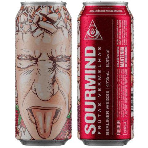Cerveja Dogma Sourmind Frutas Vermelhas Berliner Weisse C/ Morango, Amora e Framboesa Lata - 473ml