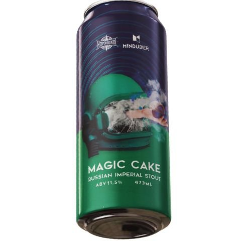 Cerveja HopMundi + MinduBier Magic Cake Russian Imperial Stout C/ Terpenos Lata - 473ml