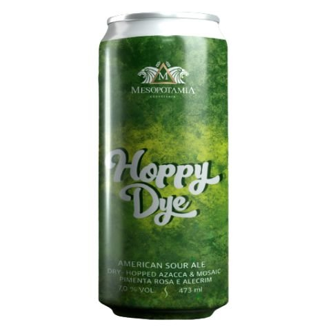 Cerveja Mesopotamia Hoppy Dye Dry Hopped American Sour Ale C/ Pimenta Rosa e Alecrim Lata - 473ml