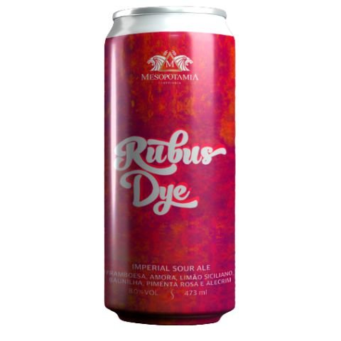 Cerveja Mesopotamia Rubus Dye Imperial Sour Ale C/ Framboesa, Amora, Limão Siciliano, Baunilha, Pimenta Rosa e Alecrim Lata - 473ml