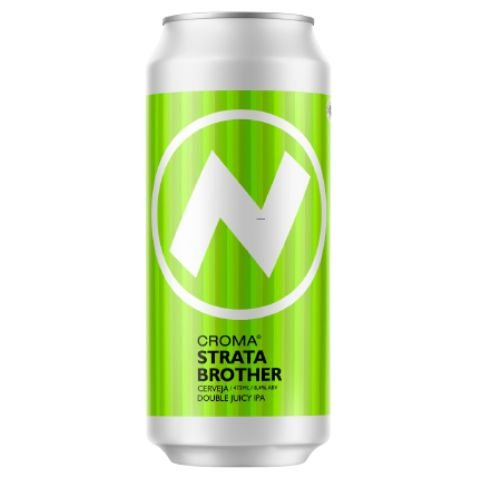 Cerveja Croma Strata Brother Double Juicy IPA Lata - 473ml