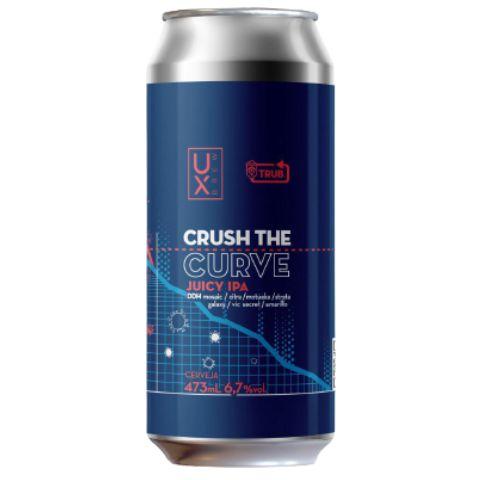 Cerveja Ux Brew Crush The Curve Juicy IPA Lata - 473ml