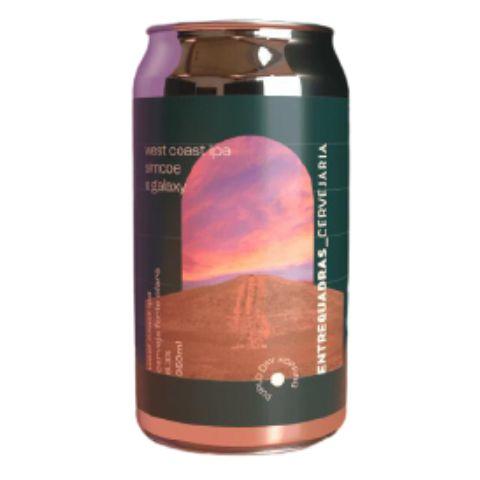 Cerveja Entrequadras West Coast IPA Simcoe e Galaxy Lata - 350ml