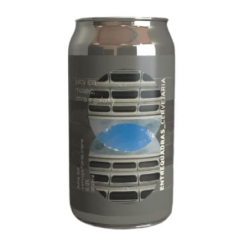 Cerveja Entrequadras Juicy IPA Mosaic, Citra e Galaxy Lata - 473ml