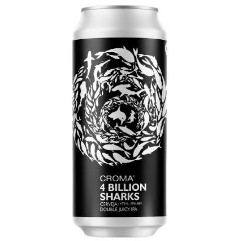 Cerveja Croma 4 Billion Sharks Double Juicy IPA Lata - 473ml
