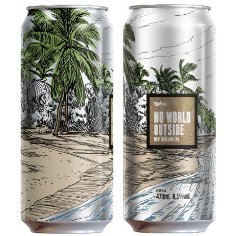 Cerveja Dádiva No World Outside New England IPA Lata - 473ml