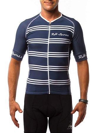 Camisa Ciclismo RH Classic Azul/Branco