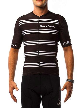 Camisa Ciclismo RH Classic Preto/Branco