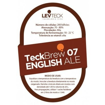 Fermento Levteck - Teckbrew 07 - English Ale