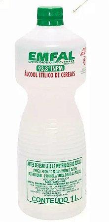 ALCOOL ETILICO DE CEREAIS EMFAL 93,8% 1L