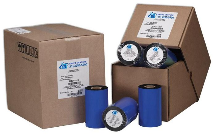 Ribbon Resina 266x450 para impressoras SATO