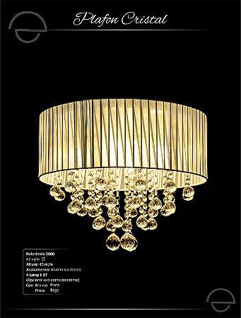 Plafon Cristal 4 lâmpadas