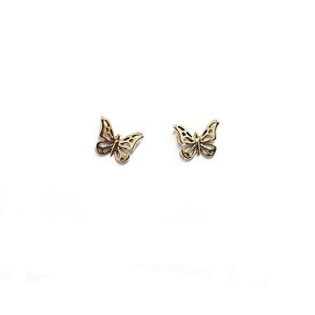 Brinco Papillon em ouro rose