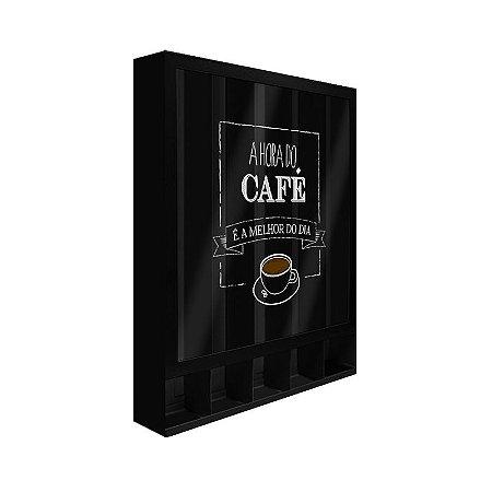 Porta Cápsulas de Parede Hora do Café