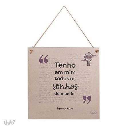 Quadro Decorativo Fernando Pessoa