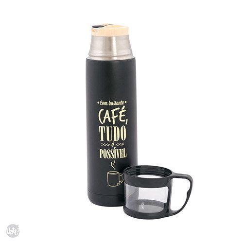 Squeeze Térmico com Caneca Café