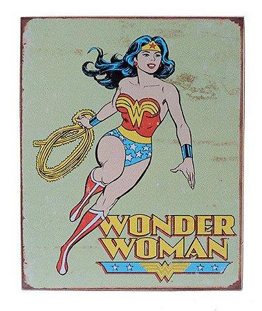 Placa Vintage Mulher Maravilha