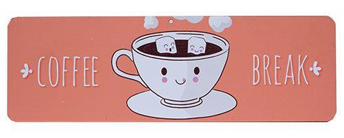 Placa Vintage Coffee Break