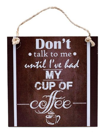 Placa Vintage My Cup of Coffee