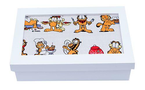 Porta Joia com Tecido Garfield Média