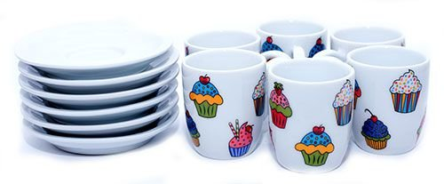 Jogo de Café Premium Cupcake
