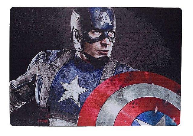 Placa Geek Capitão América