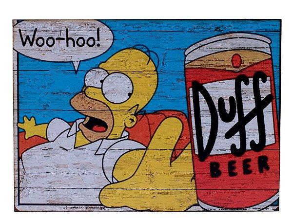 Placa Duff Beer Homer Simpson