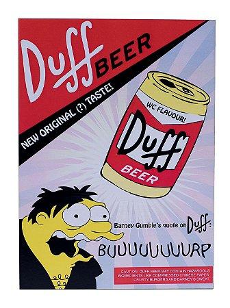 Placa Duff Beer