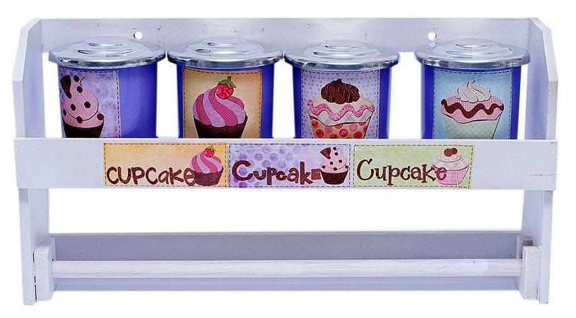 Porta Condimento de Parede Cupcake