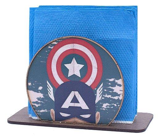 Porta Guardanapo Redondo Capitão América