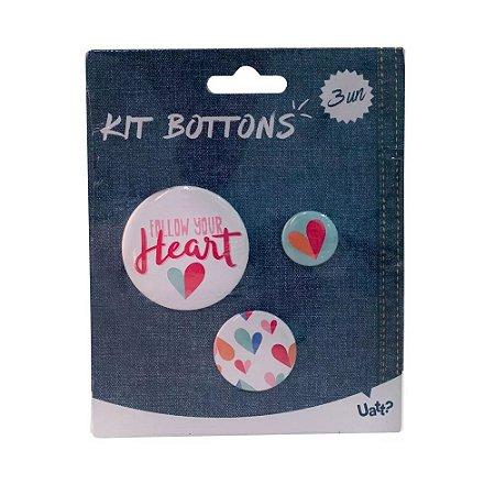Bottons Follow Your Heart