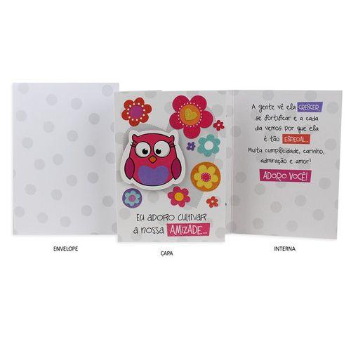 Cartão de Amizade Corujinhas G