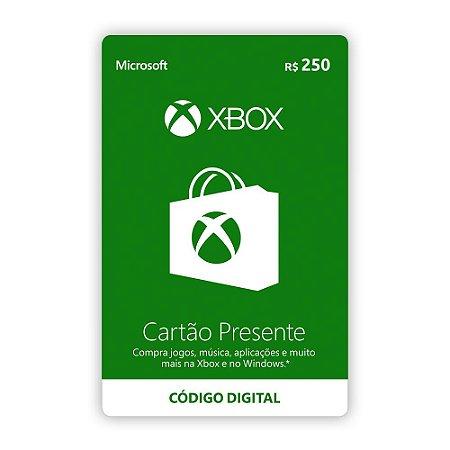 Microsoft Gift Card R$ 250,00 - Xbox Live Brasil