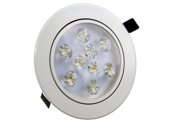 Spot de LED  9W Redondo Branco Quente