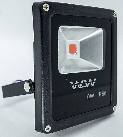 Refletor De LED 10W luz Vermelha IP66