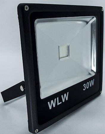 Refletor De LED 30W luz Azul IP66