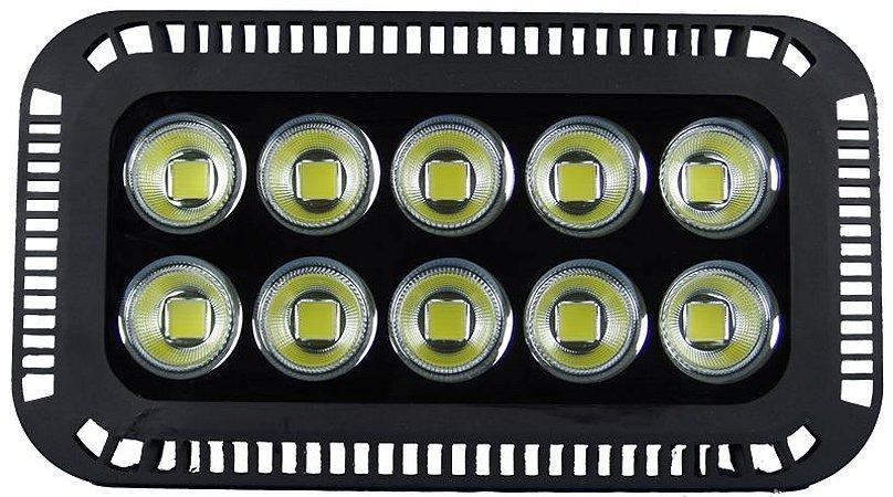 Refletor de LED 500W 6500K Branco Frio Bivolt 1 ano de garantia
