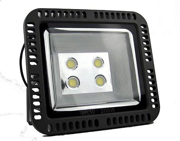 Refletor de LED 200w Branco Frio Bridgelux 110LM/W 2 anos garantia