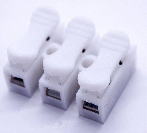 Kit 10 Uni Conectores Fios Sem Emenda Sem Solda 3 Vias