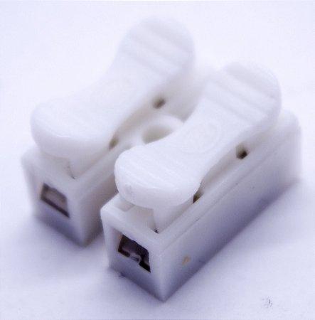 Kit 10 Uni Conectores Fios Sem Emenda Sem Solda 2 Vias