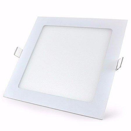 Plafon Painel LED 18W Branco Quente Quatrado Embutir