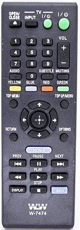 Controle Remoto Dvd Sony Blu-ray WLW-7474