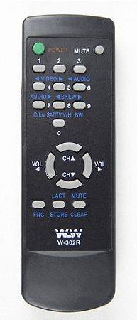 Controle Remoto TV TEC SOT REF:302R