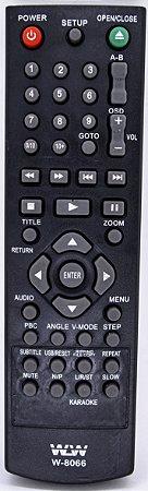 PLA-CONTROLE REMOTO DVD PHILCO- REF:W-8066