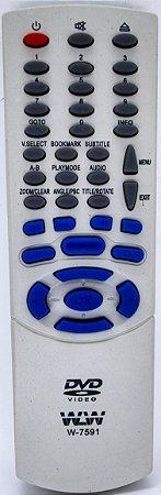 CONTROLE REMOTE DVD PHILCO  REF:7591