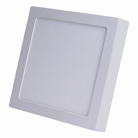 Plafon PAINEL LED SOBREPOR Quadrado 25W  Bran. Frio